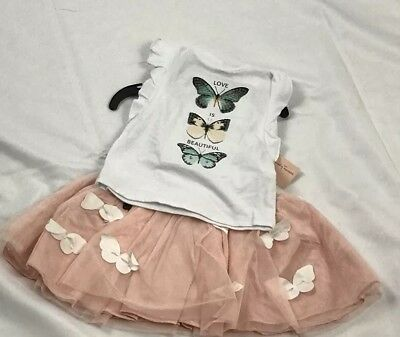 Nanette Lepore Girls 2 Pieces Set Skirt With Top Size 18m