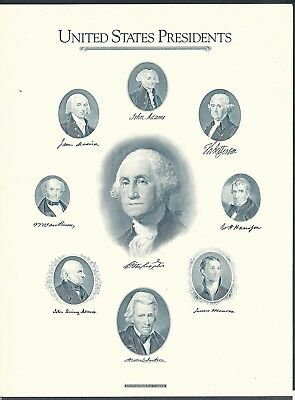 American Bank Note Co print 1989 Archive series Presidents w/ Washington
