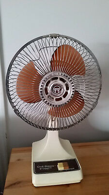 """Vintage Cool-Breeze 9"""" Oscillating 2-speed Fan Kuo Horng Electric Model KH-901"""