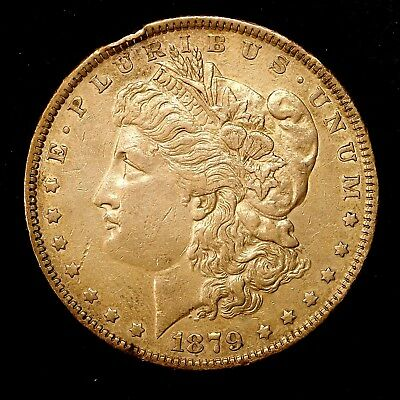 1879 P ~**ABOUT UNCIRCULATED AU**~ Silver Morgan Dollar Rare US Old Coin! #154