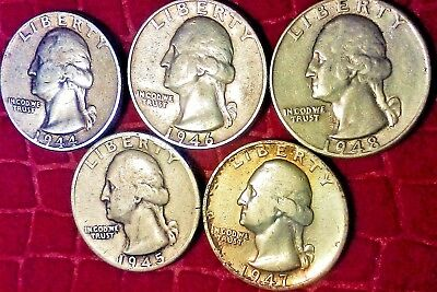 1 TROY OZ. Silver Washington Quarters,1944-1948 P/S Mint, WHY BUY HERE?FIND OUT!