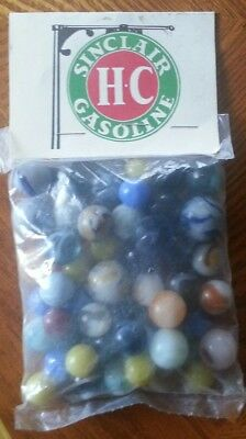 SINCLAIR H-C GASOLINE Bag of Marbles*Collectable*Promo*Vintage Look*SHIPS FREE