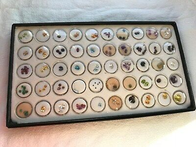 Reduced - One Tray Of (50) Gem Jars With Precious Gemstones