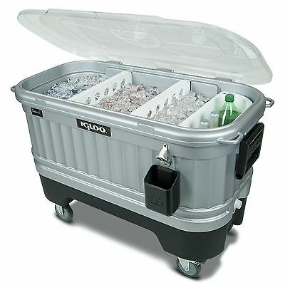 Patio Party Cooler 125 Quart Outdoor Portable Rolling Bar Insulated Ice Chest