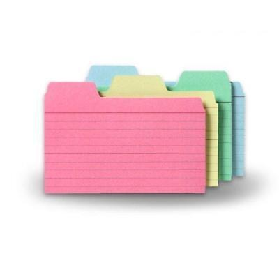 Find-It Tabbed Index Cards, 3 x 5 Inches, Assorted Colors, 48-Pack