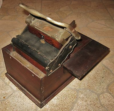 Antique Machine rubber letter block receipt stamp printing press Gibson vintage