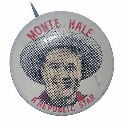Vtg Quaker Monte Hale pin Puffed Wheat and Rice advertising pinback button