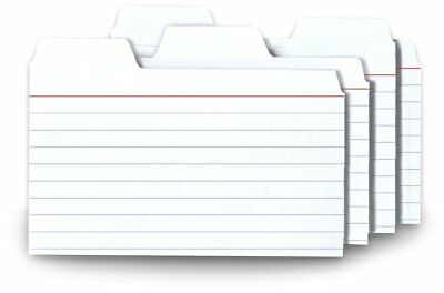 Find-It Tabbed Index Cards, 3 x 5 Inches, White, 48-Pack (FT07215), New