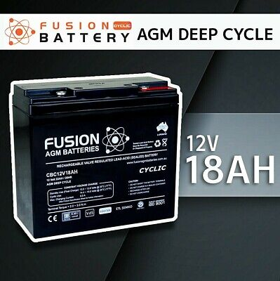 12V 18AH Sealed Battery AGM > 17ah 4 Solar, Jet Ski 20ah/22ah Fusion