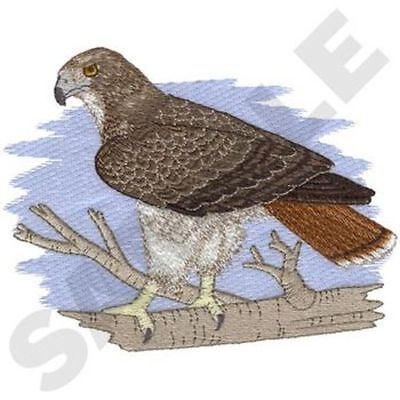 "Red-Tailed Hawk Embroidered Patch 6.4"" x  5"""
