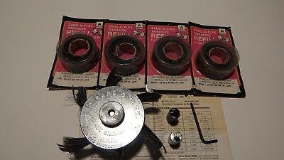 Vintage Sand-O-Flex Merit Abrasives Model 300 D + 4 Refills 3-Med. 1 Fine (New)