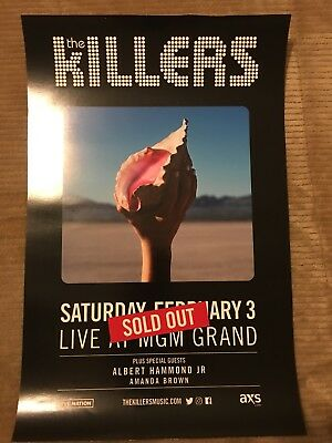 """The Killers Sold Out Las Vegas show poster. 11""""x17"""""""