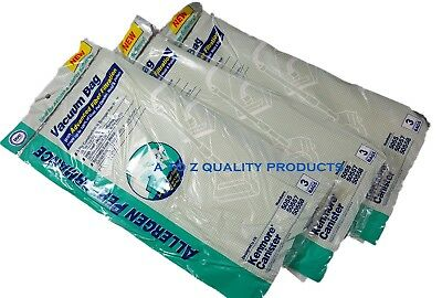 9 Kenmore Vacuum bags Style C & Q, 50558, 50557, 5055 Canister Allergen Cloth