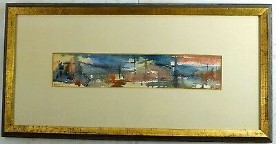 Michael Loew NY ABSTRACT EXPRESSIONIST PAINTING Mid Century WPA ASL 1954