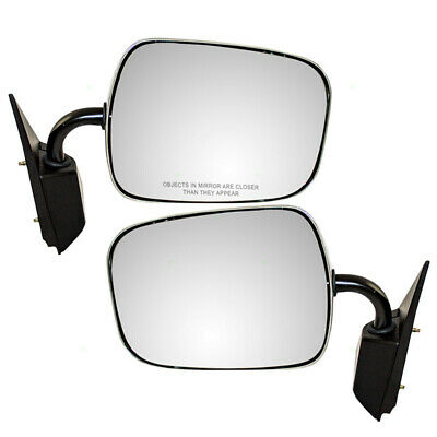 GMC Chevrolet SUV Pickup Truck Set of Side View Manual Sail Mount Chrome Mirrors