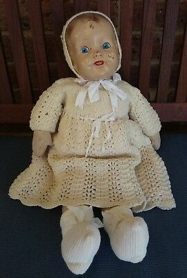 Antique Australian Verna composition and cloth doll 20""