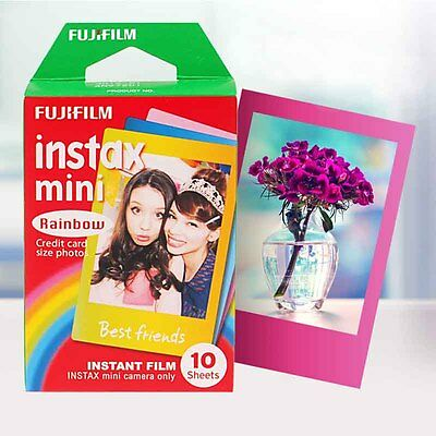 Rainbow Fujifilm Instax Mini Instant 10 sheets Film for Mini 7s 8 25 50s 90 SP-1