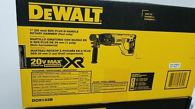 "DEWALT DCH133B 20V Max XR Brushless 1"" D-Handle Rotary Hammer Drill (Tool Only)"