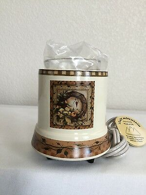 NEW Crazy Mountain Ceramic Votive Candle Warmer  4 3/4""