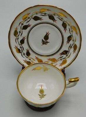 Royal Chelsea Tea Cup Saucer Fine Bone England 3483A/R Gold Flowers Vine Verge