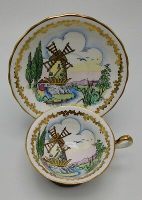 Royal Chelsea 860A Mill Tea Cup And Saucer
