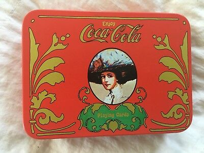 NEW! Old Fashion Coca-Cola Tin and Playing Card Set in Orig Box Cards Are Sealed
