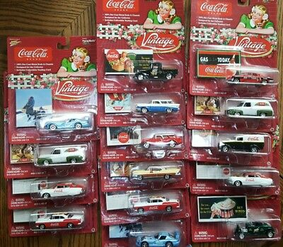 BRAND NEW Coca Cola Lot 15 Coke Matchbox Vintage 11 Diff Cars Trucks Diecast MIB