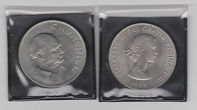 1965 - Sir Winston Churchill - Commemorative Crown - Bank Advertising Package