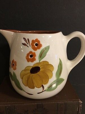 Stangl Pottery Milk Pitcher First Love Hand Painted Trenton NJ USA Display Piece