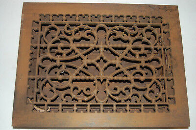 "cast iron floor register Heat Grate  With Louvers 12"" X 16"""