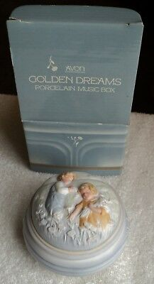 "1985 Avon Golden Dreams Porcelain Music Box ""You Are The Sunshine of My Life"""