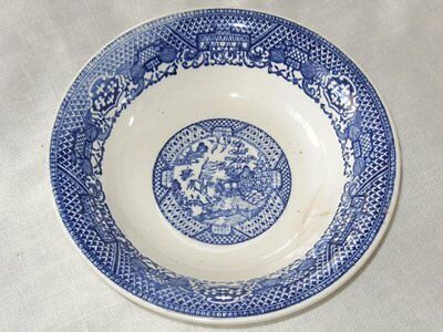 Vintage Blue & White Oriental Asian Willow Style Soup Cereal Salad Bowl