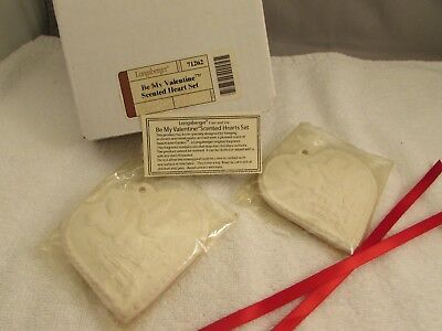 New Longaberger Sweetheart Be My Valentine Scented Heart Set   B-5