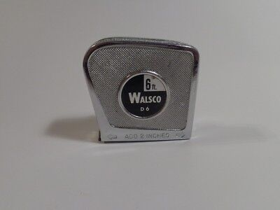 Vintage Walsco 6 Ft Tape Measure Model D6 Made In Usa