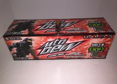 Mountain Dew Game Fuel Halo 4 Citrus Cherry  12 Pk 12oz Unopened 2012 Rare