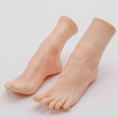 A pair of soft Vivid mannequin foot
