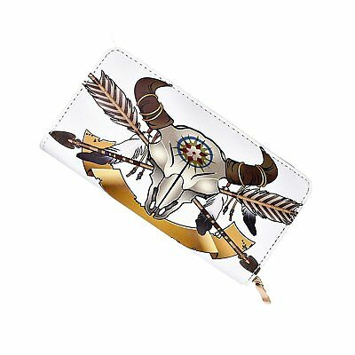 Walllet Native American Indian Art Prints Womens Clutch Leather long Wallet Card