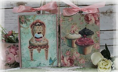 "~ Vintage ""CUPCAKES"" ~ Shabby Chic ~ Country Cottage style ~ Wall Decor Sign ~"