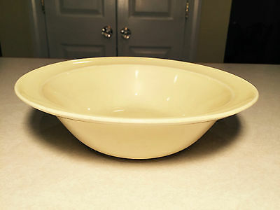 """Vintage 1950's LURAY Taylor Smith Taylor TS&T PALE PASTEL YELLOW 9"""" SERVING BOWL"""