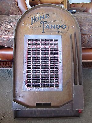 1932 Antique Wood Pinball game Machine HOME TANGO Metal Ball Atlas Chicago