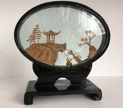 Chinese Carved Cork Diorama