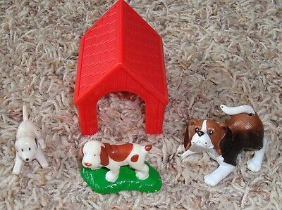 Vintage Lincoln Logs, Lincoln Log Dog House & Dogs,  , Rare    Smoke Free Home