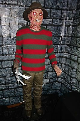 Original Elm Street 6' Freddy Krueger Animated Halloween Lifesize Gemmy Prop