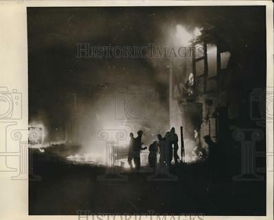1941 Photo Bremen, Germany. British Troopers Visible Flames Truck