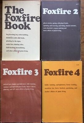 Collection of FOUR (4) Foxfire Books Nos 1-4, Vintage Softcover