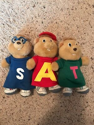 Alvin and the Chipmunks Plush Stuffed Toys 1987 Bagdasarian  FULL SET OF 3