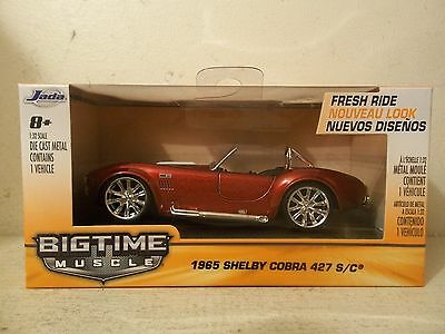 2014 Jada Toys 1/32 Scale Bigtime Muscle 1965 Shelby Cobra 427 S/c Red