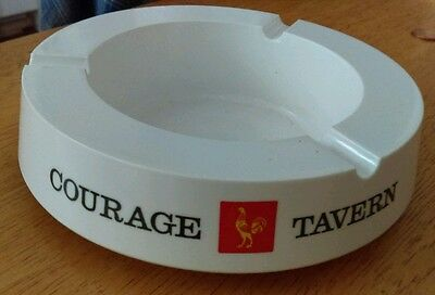 Courage Tavern Ashtray Marked Italy Beer Collectable