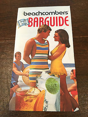"""Vintage 1970 SOUTHERN COMFORT """"Beachcombers Barguide"""" Mixed Drink Recipe Booklet"""