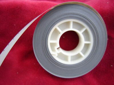 16mm gray acetate film leader single perforation - 50'